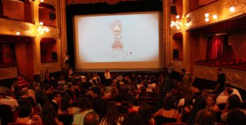 Girona film festival 2013 inside a busy auditorium before the film begins