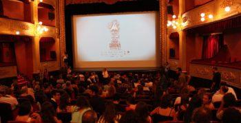 Girona film festival 2013 inside a busy auditorium before the film begins